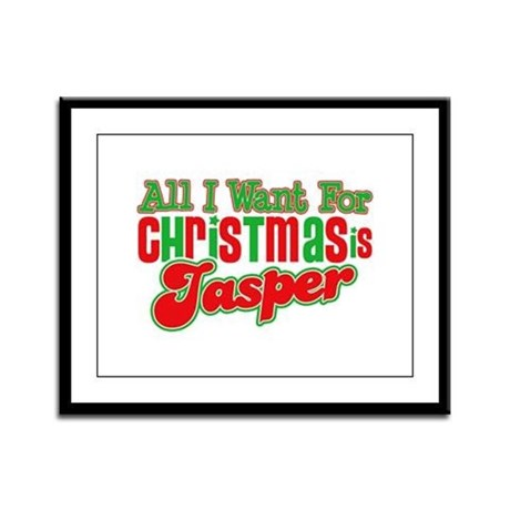 Christmas Jasper Framed Panel Print