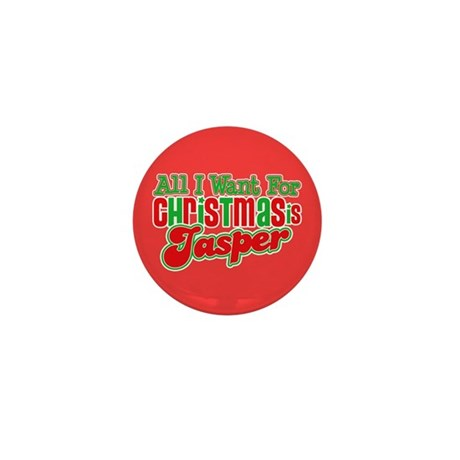 Christmas Jasper Mini Button