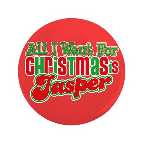 "Christmas Jasper 3.5"" Button"