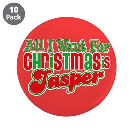 "Christmas Jasper 3.5"" Button (10 pack)"