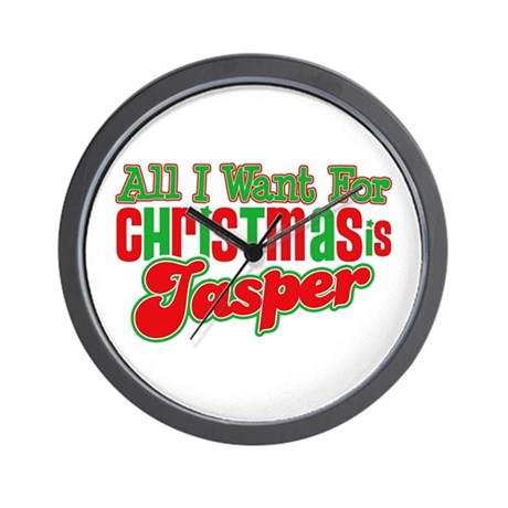 Christmas Jasper Wall Clock