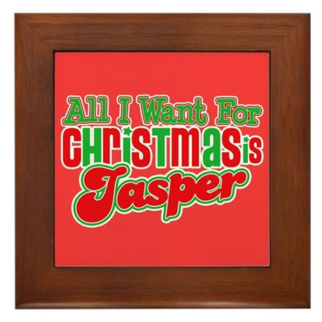 Christmas Jasper Framed Tile