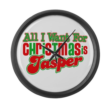 Christmas Jasper Large Wall Clock