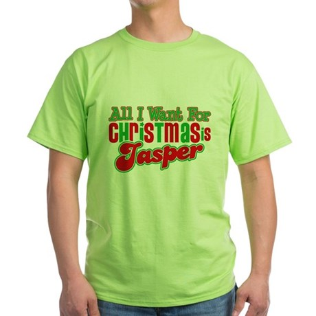 Christmas Jasper Green T-Shirt