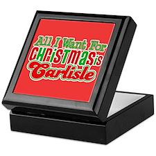 Carlisle Christmas Keepsake Box