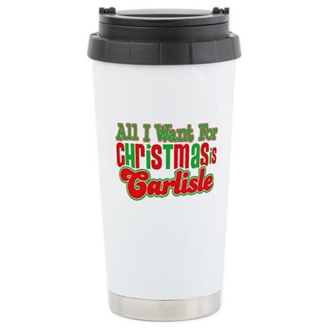 Carlisle Christmas Ceramic Travel Mug