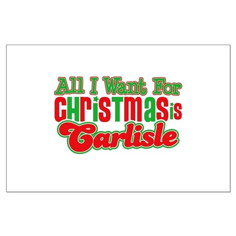 Carlisle Christmas Large Poster