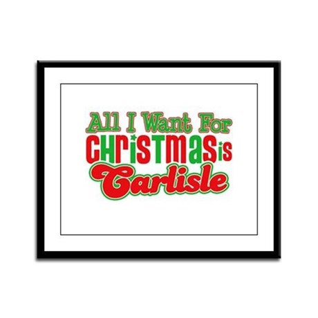 Carlisle Christmas Framed Panel Print