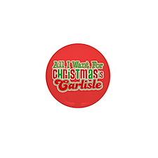 Carlisle Christmas Mini Button (10 pack)