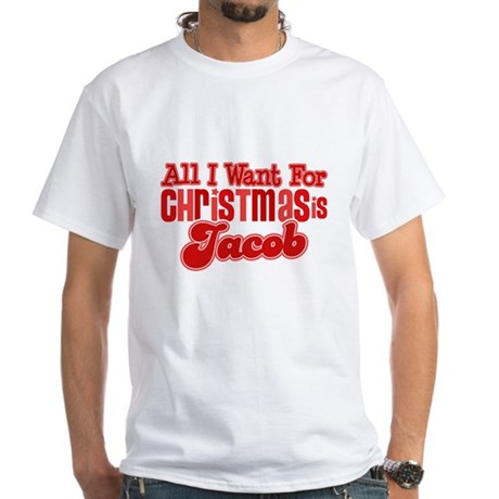 Christmas Jacob White T-Shirt
