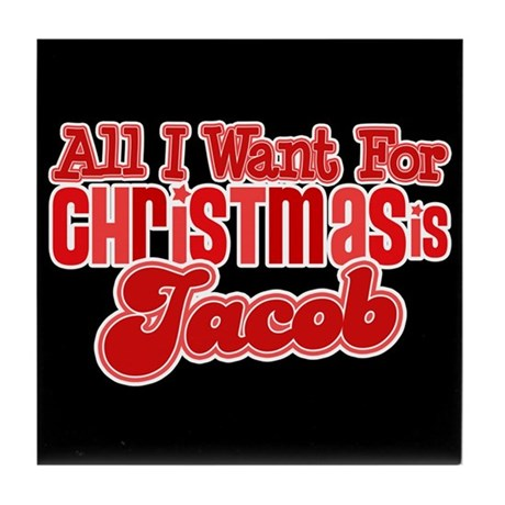 Christmas Jacob Tile Coaster
