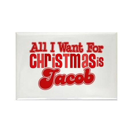 Christmas Jacob Rectangle Magnet