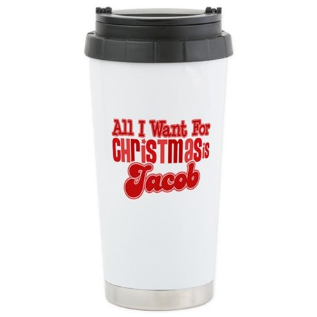 Christmas Jacob Ceramic Travel Mug