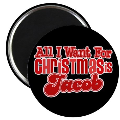 Christmas Jacob Magnet