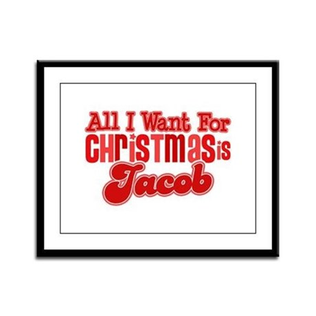 Christmas Jacob Framed Panel Print