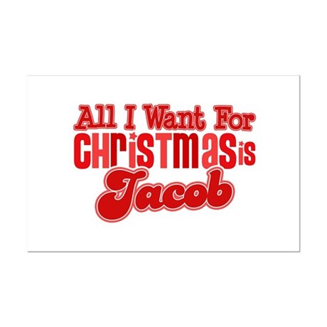 Christmas Jacob Mini Poster Print
