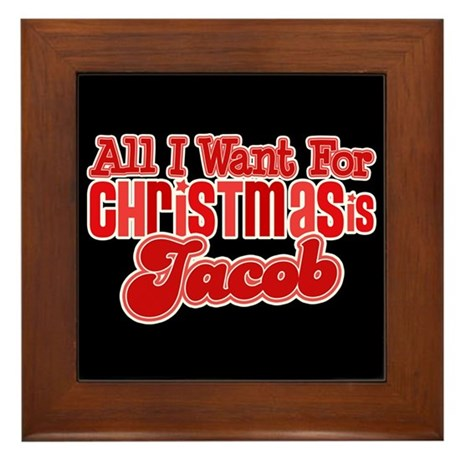 Christmas Jacob Framed Tile