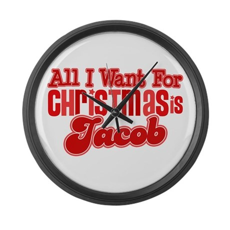 Christmas Jacob Large Wall Clock