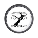 Aotearoa New Zealand Wall Clock