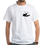 Bull elk, Crown Series,White T-Shirt