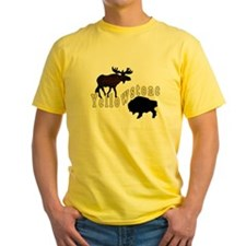 Bison Moose Yellowstone T