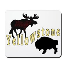 Bison Moose Yellowstone Mousepad