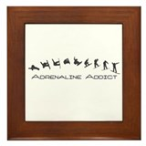 Adrenaline Addict (Snowboard) Framed Tile