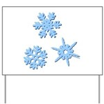 3-D Snowflakes Yard Sign