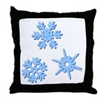 3-D Snowflakes Throw Pillow