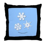 3-D Snowflakes White Throw Pillow