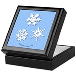 3-D Snowflakes White Keepsake Box