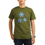 3-D Snowflakes Organic Men's T-Shirt (dark)