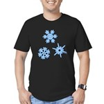 3-D Snowflakes Men's Fitted T-Shirt (dark)