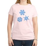 3-D Snowflakes Women's Light T-Shirt