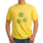 3-D Snowflakes Yellow T-Shirt