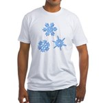 3-D Snowflakes Fitted T-Shirt