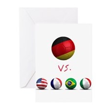 Germany vs The World Greeting Cards (Pk of 10)
