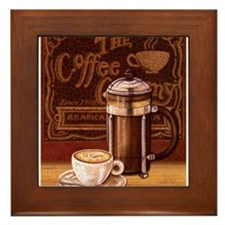Cute Cafe Framed Tile