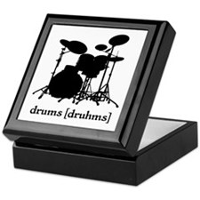Drums Dictionary Silhouette Keepsake Box
