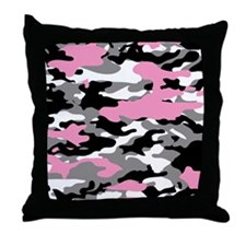 PINK CAMO - Throw Pillow