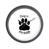 Dog is my Guide Wall Clock