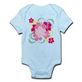 Cute Hibiscus flowers Infant Bodysuit