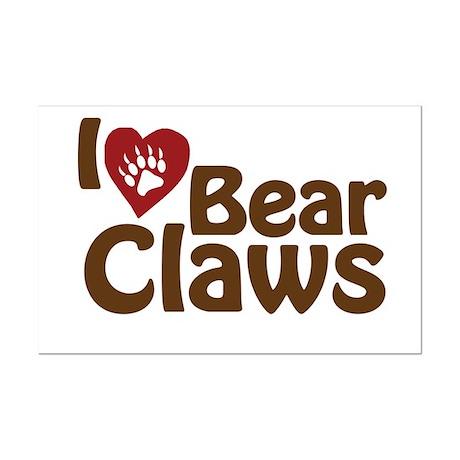 I Love Bear Claws Mini Poster Print