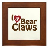 I Love Bear Claws Framed Tile