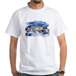 Cutthroat,Saltypro fishing Series,White T-Shirt