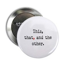 """Red Serial Comma 2.25"""" Button (10 pack)"""