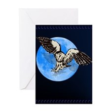 Blue Moon Owl Greeting Card