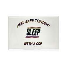 Cool Police woman Rectangle Magnet (10 pack)