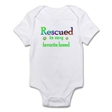 Rescued is my favorite breed Onesie