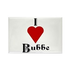 I Love (heart) Bubbe Rectangle Magnet